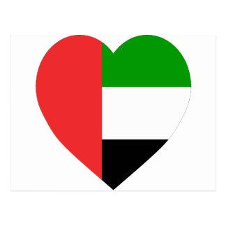 United Arab Emirates Flag Heart Postcard