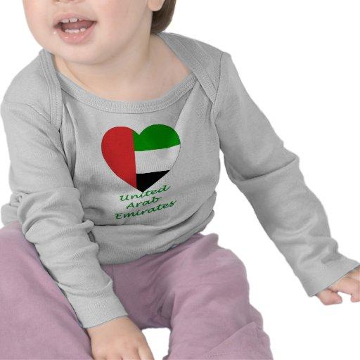 United Arab Emirates Flag Heart Tees