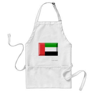 United Arab Emirates Flag Jewel Adult Apron