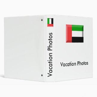 United Arab Emirates Flag Jewel Vinyl Binders