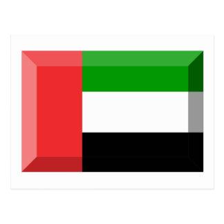 United Arab Emirates Flag Jewel Postcard