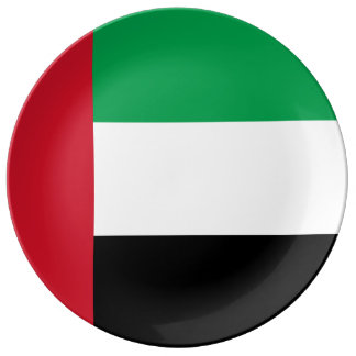 United Arab Emirates Flag Porcelain Plate