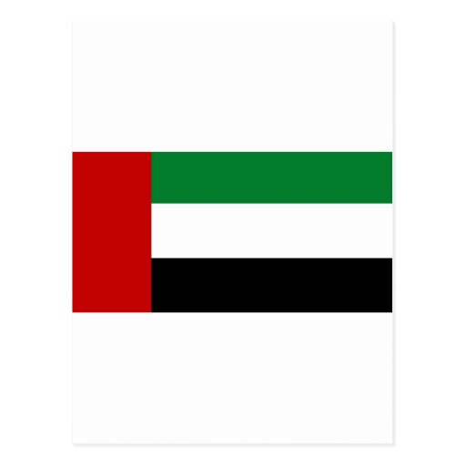 United Arab Emirates flag Post Card