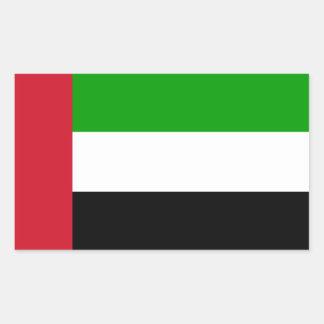 United Arab Emirates Flag Rectangular Sticker