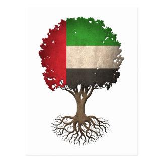 United Arab Emirates Flag Tree of Life Customizabl Postcard