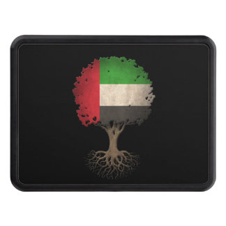 United Arab Emirates Flag Tree of Life Customizabl Tow Hitch Cover