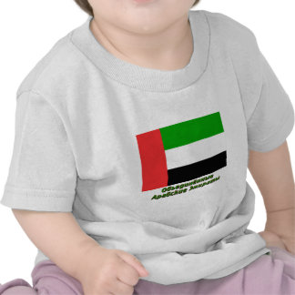 United Arab Emirates Flag with name in Russian Tee Shirt