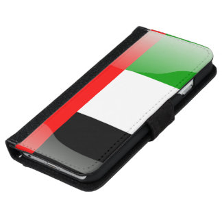 United Arab Emirates glossy flag iPhone 6/6s Wallet Case