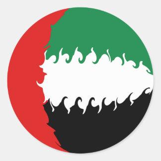 United Arab Emirates Gnarly Flag Classic Round Sticker
