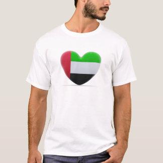 United Arab Emirates Heart Flag T-Shirt
