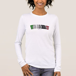 United Arab Emirates in national flag colors Long Sleeve T-Shirt