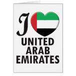 United Arab Emirates Love Greeting Cards