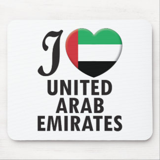 United Arab Emirates Love Mouse Pad
