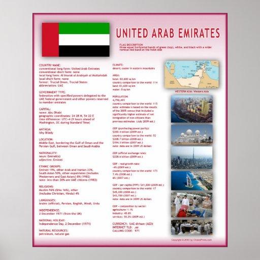 United Arab Emirates Print