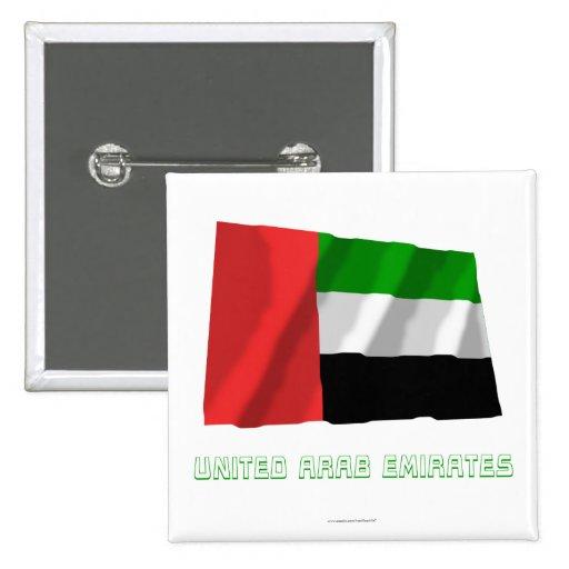 United Arab Emirates que agitan la bandera con nom Pins