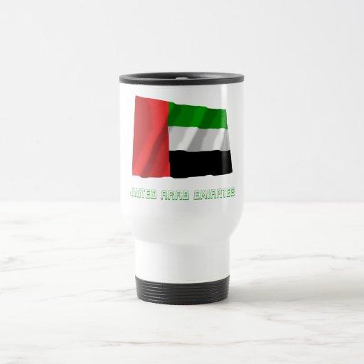 United Arab Emirates que agitan la bandera con nom Tazas