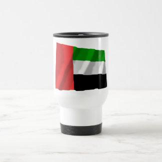 United Arab Emirates que agitan la bandera Taza Térmica
