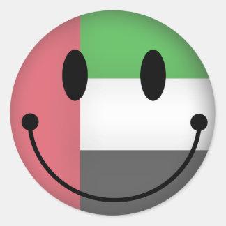 United Arab Emirates Smiley Classic Round Sticker