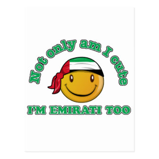 United Arab Emirates smiley flag designs Postcard