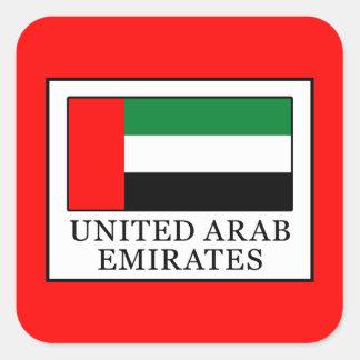 United Arab Emirates Square Sticker