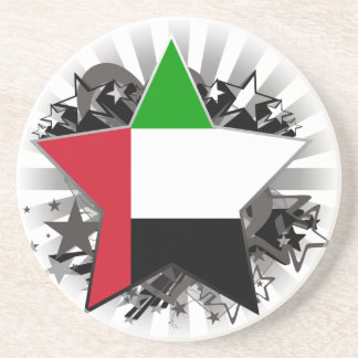 United Arab Emirates Star Beverage Coaster