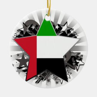 United Arab Emirates Star Christmas Tree Ornaments