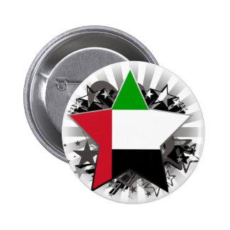United Arab Emirates Star Pinback Button