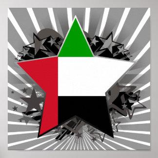 United Arab Emirates Star Print