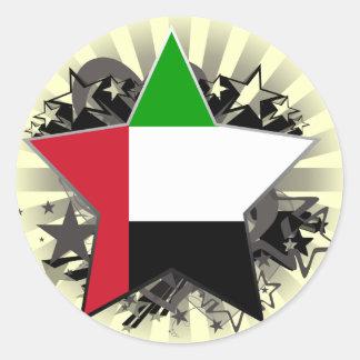 United Arab Emirates Star Round Stickers