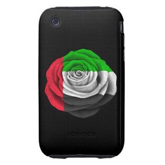 United Arab Emirates subió la bandera en negro iPhone 3 Tough Protectores