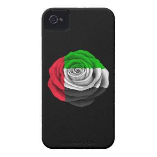 United Arab Emirates subió la bandera en negro Case-Mate iPhone 4 Funda