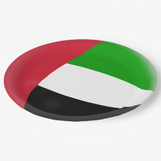 United Arab Emirates UAE Flag Paper Plate