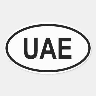 "United Arab Emirates ""UAE "" Pegatina Ovalada"