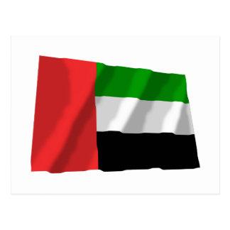 United Arab Emirates Waving Flag Postcard