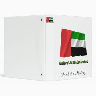 United Arab Emirates Waving Flag with Name Binder