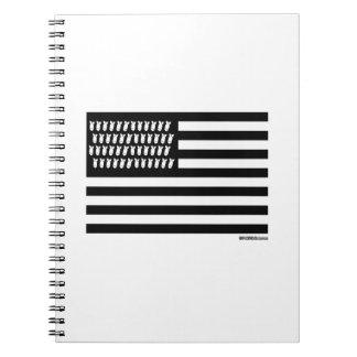 United Bombs Flag Spiral Notebooks