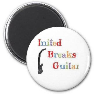 United Breaks Guitars 2 Inch Round Magnet