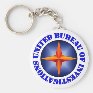 United Bureau of Investigations Basic Round Button Keychain