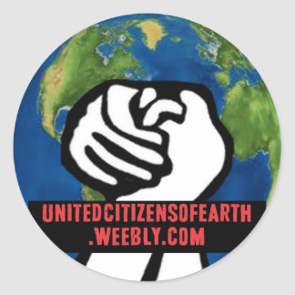 United Citizens of the Earth Classic Round Sticker