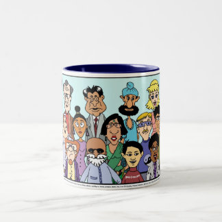 United Colors of America mug! Two-Tone Coffee Mug