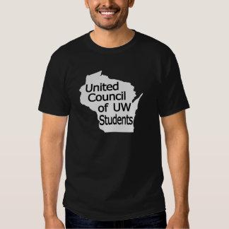 United Council New Logo Black on Grey T Shirt