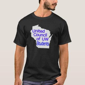 United Council New Logo Blue on Grey T-Shirt