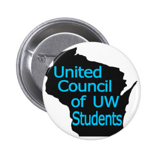 United Council New Logo Cyan on Black Button