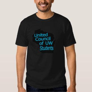 United Council New Logo Cyan on Black Shirt