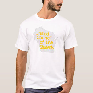 United Council New Logo Gold on Grey T-Shirt