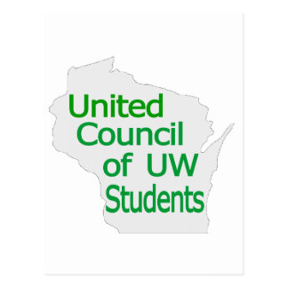 United Council New Logo Green on Grey Postcard