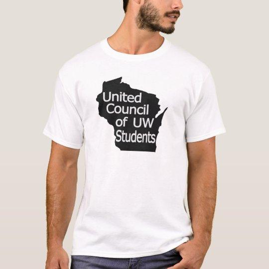 United Council New Logo Grey on Black T-Shirt