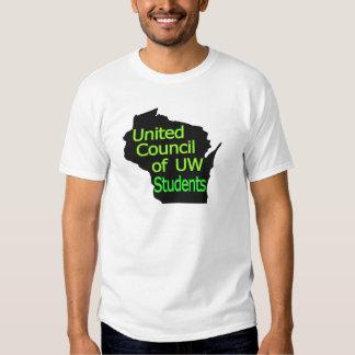 United Council New Logo Lime on Black Shirt