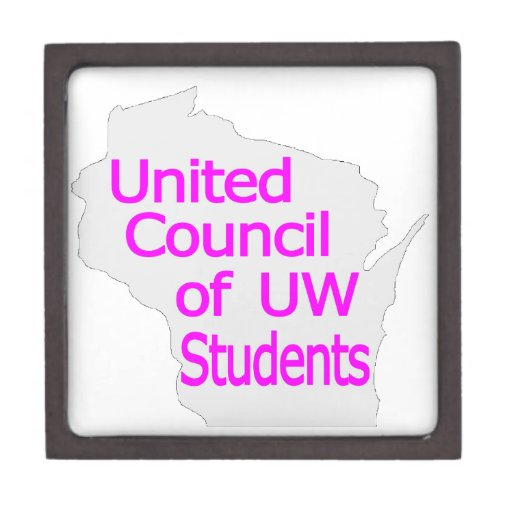 United Council New Logo Magenta on Grey Premium Trinket Boxes