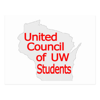 United Council New Logo Red on Grey Postcard